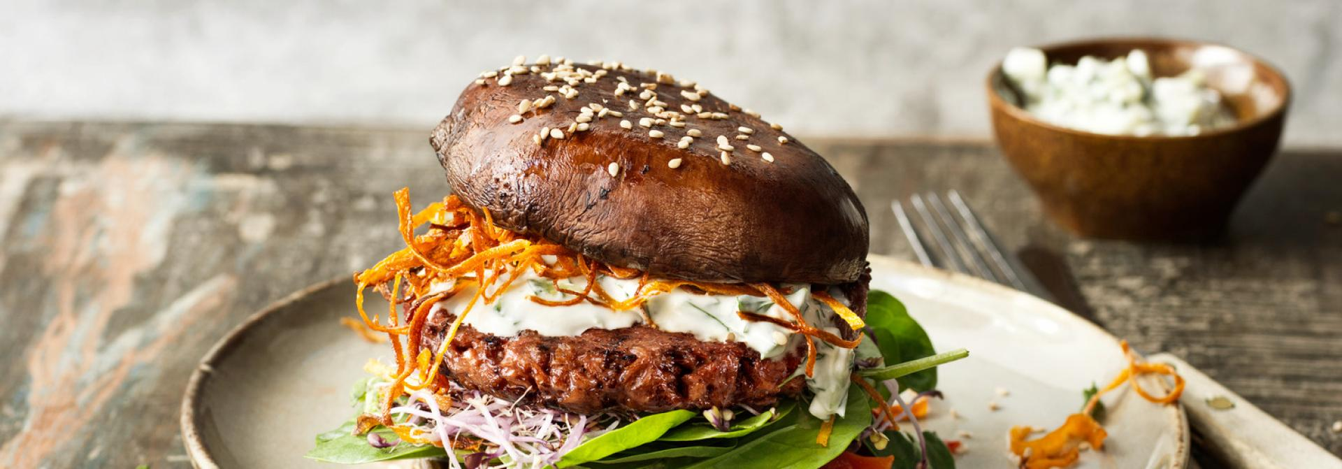 Vegan Sensational Portobello Burger